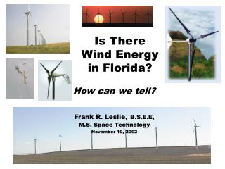 Is There Wind Energy in Florida?