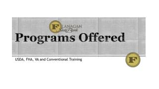Programs Offered