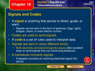Signals and Codes