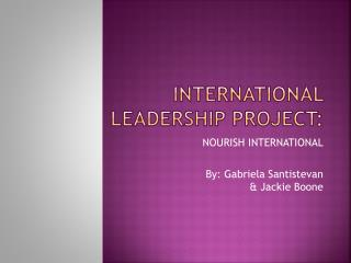 International Leadership Project: