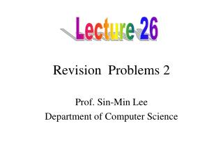 Revision  Problems 2