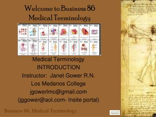 Welcome to Business 86 Medical Terminology