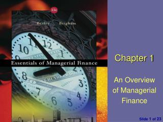 Chapter 1 An Overview of Managerial Finance