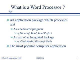 What is a Word Processor ?