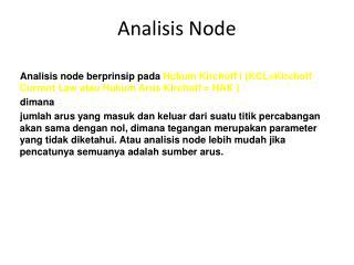 Analisis Node