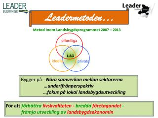 Leadermetoden …