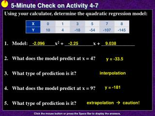 5-Minute Check on Activity 4-7