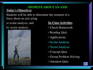 MOMENT ABOUT AN AXIS
