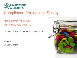 Compliance Perceptions Survey Results from the survey  with individuals 2008-10