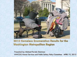 2013 Homeless Enumeration Results for the Washington Metropolitan Region