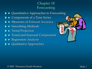 Chapter 18 Forecasting