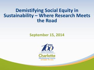 Demistifying  Social Equity in Sustainability – Where Research Meets the Road