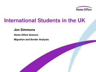 International Students in the UK