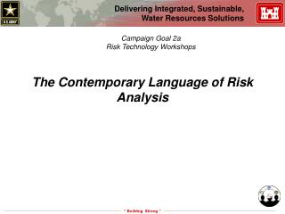 The Contemporary Language of Risk Analysis