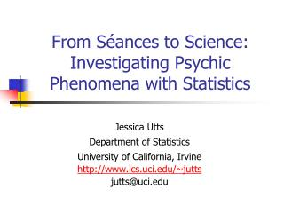 From Séances to Science: Investigating Psychic Phenomena with Statistics