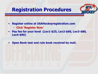 Registration Procedures