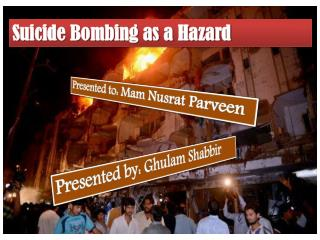 Suicide Bombing as a Hazard