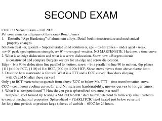 SECOND EXAM
