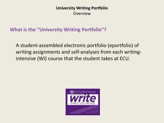 University Writing Portfolio Overview