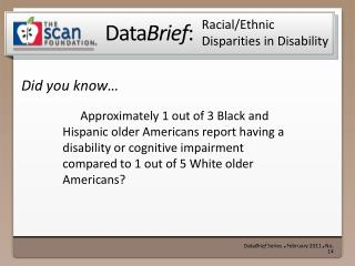 Racial/Ethnic Disparities in Disability