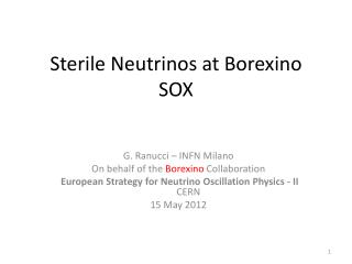 Sterile Neutrinos at  Borexino SOX