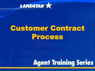 Customer  Contract Process