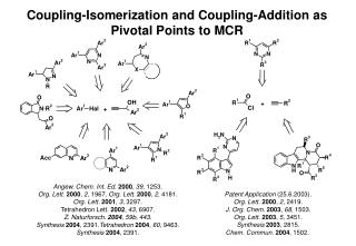 Coupling-Isomerization and Coupling-Addition as Pivotal Points to MCR