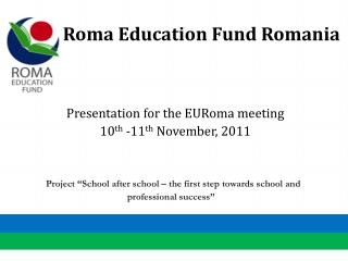 Roma Education Fund Romania