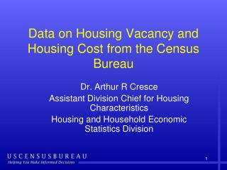 Data on Housing Vacancy and Housing Cost from the Census Bureau