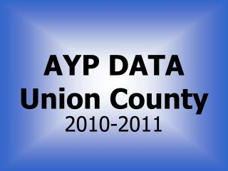AYP DATA Union County