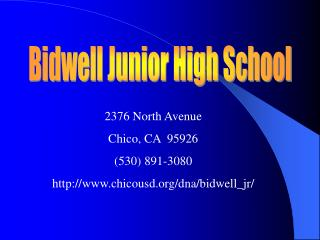 Bidwell Junior High School