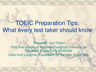 TOEIC Preparation Tips: What every test taker should know