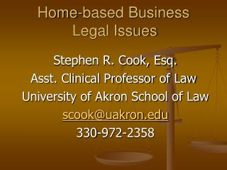 Home-based Business  Legal Issues