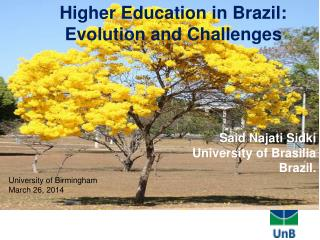 Said Najati Sidki University of Brasilia  Brazil.