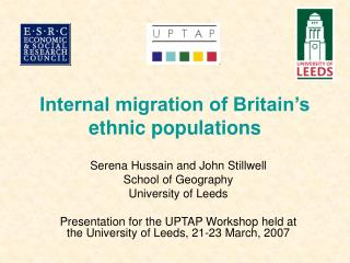 Internal migration of Britain's ethnic populations
