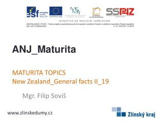 MATURITA TOPICS New Zealand_General facts II _19
