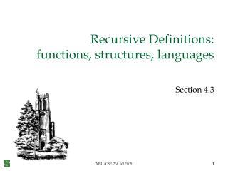 Recursive Definitions:  functions, structures, languages