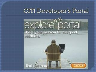 CITI Developer's Portal