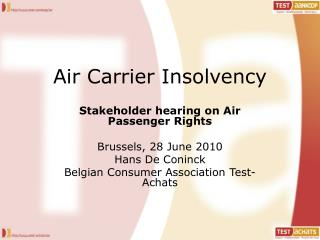 Air Carrier Insolvency