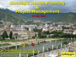 Strategic Health Planning & Project Management