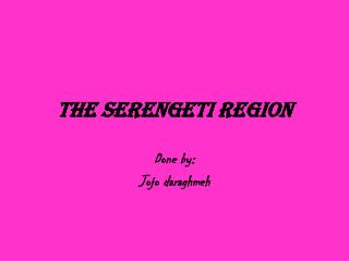 The Serengeti Region