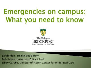 Emergencies on campus: What you need to know