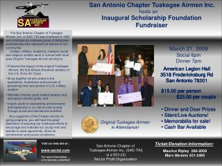 San Antonio Chapter Tuskegee Airmen Inc.
