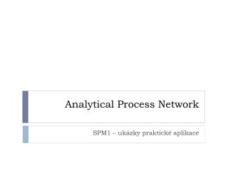 Analytical Process Network