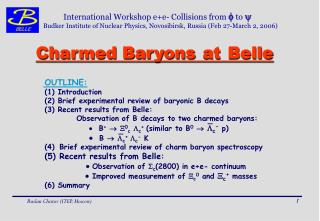 Charmed Baryons at Belle