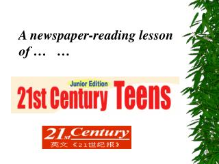 A newspaper-reading lesson of …   …