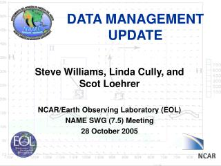 DATA MANAGEMENT UPDATE