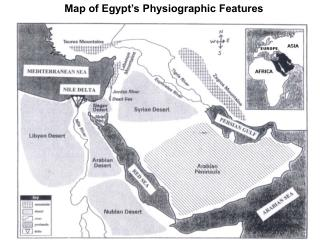 Map of Egypt's Physiographic Features