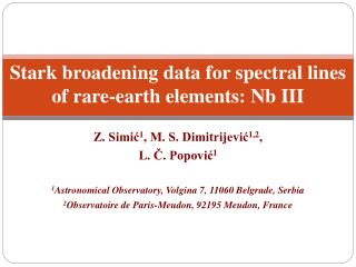 Stark broadening data for spectral lines of rare-earth elements: Nb III