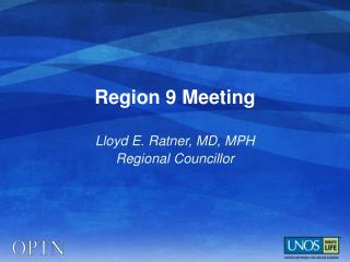 Region 9 Meeting